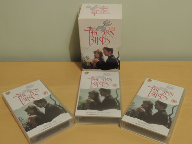 THE THORN BIRDS - VOLUMES 1, 2, 3, & 4 - TREBLE VHS PAL (UK) VIDEO SET