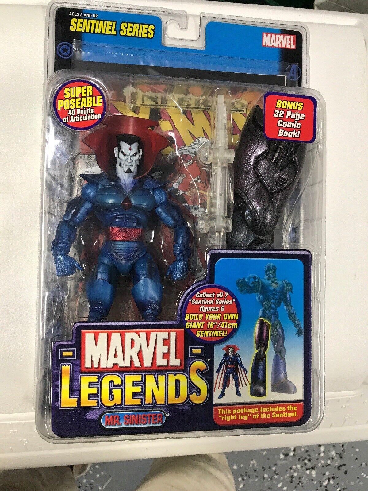 Marvel legends mr.sinister baf sentinal figure nip 2005 toy biz