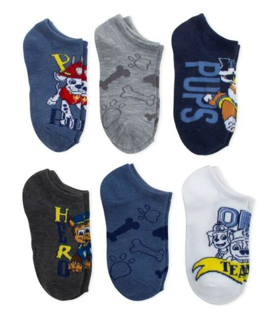 Uk 9-11 Kids Paw Patrol Socks New