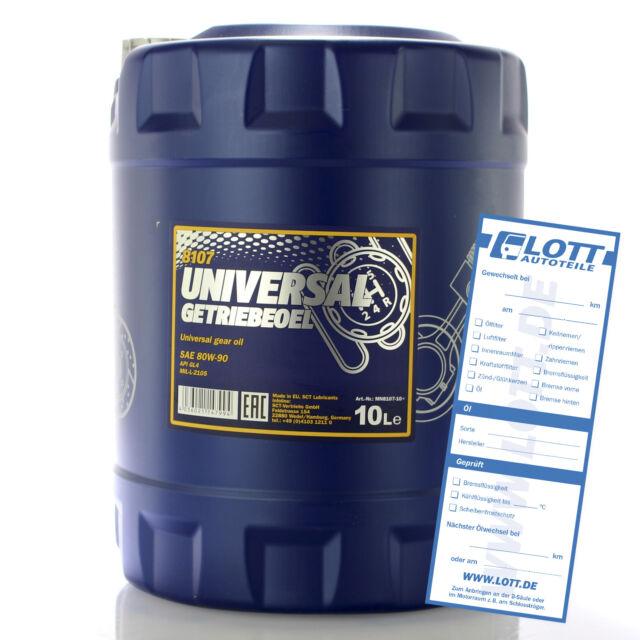 Mannol MN8107-10 Getriebeöl 80W-90 Universal API GL-4 Schaltgetriebe Öl 10L