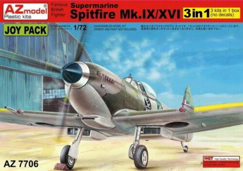 AZ Models 1/72 Supermarine Spitfire Mk. IX/XVI (3 en 1) # 7706