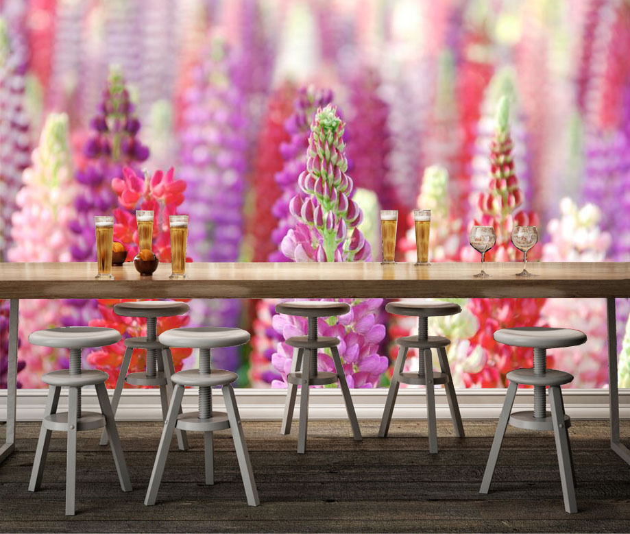3D Various colorful Flowers Wall Paper Print Decal Wall Deco Indoor wall Mural