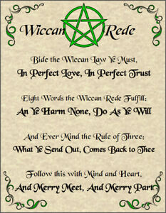 Wiccan-Rede-Poster-Wicca-Pagan-New-Age-Goth-Witch-Spirit-Pentacle-Goth-Magic