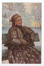RUSSIE Russia Théme Types russes costumes personnage femme sur un banc
