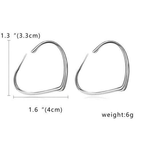 Fashion Women Gold//Silver Metal Big Circle Smooth Large Ring Hoop Earrings Chic