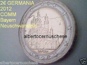 2 euro 2012 GERMANIA Allemagne Alemania Deutschland Germany Neuschwanstein