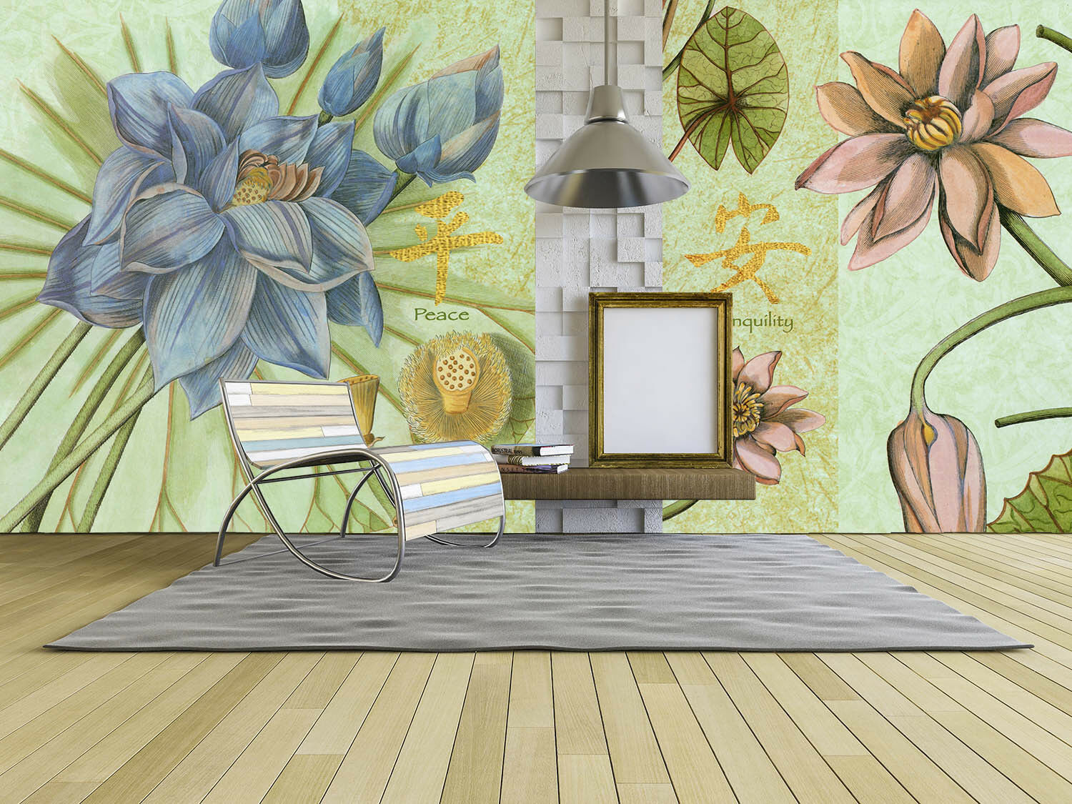 3D Flowers Lotus 770 Wallpaper Mural Paper Wall Print Wallpaper Murals UK Lemon