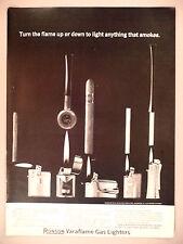 Ronson Lighter PRINT AD - 1963 ~ cigarette, cigar, pipe lighters