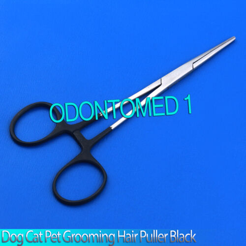 "Dog Cat Pet Grooming Hemostat Hair Puller 5.5/"" Black"