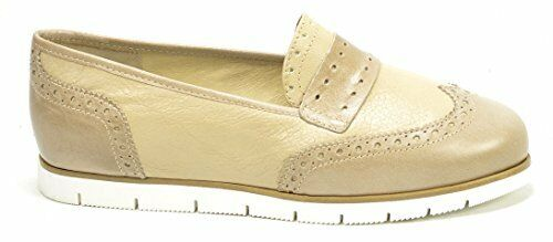 Hard-Working Ogs Wide Shoes Caterina Beige Leather Flats Oxsford 3e Wide