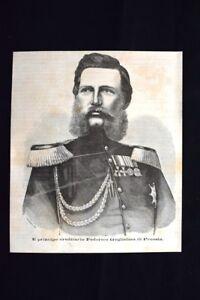Il-principe-ereditario-Federico-Guglielmo-di-Prussia-Incisione-del-1870