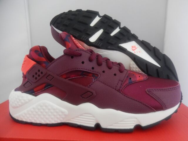 96af0da1443c0 NIKE AIR HUARACHE RUN PRINT DEEP GARNET-BRIGHT CRIMSON SZ 5  725076-602