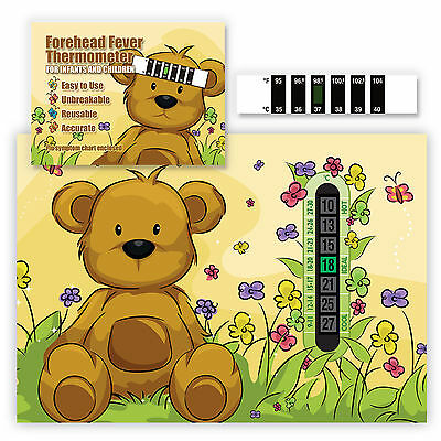 A5 Nursery Baby and Childrens Blue Teddy Bear Room Thermometers