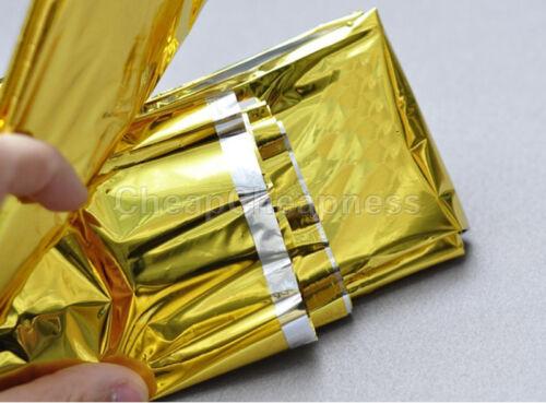 Gold Emergency Solar Survival Blanket Safety Insulating Mylar Thermal HeatHK