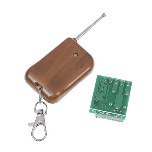 DC 12V 1Channel Wireless Relay Remote Control Switch Receiver With Transmitter+J
