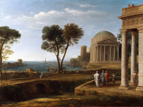 Painting Lorrain Aeneas In Delos Xxl Wall Canvas Art Print