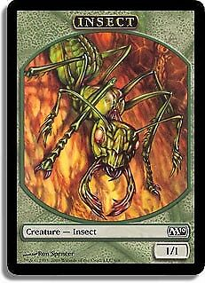 M2010 *1//1* MTG 4x INSECT TOKEN