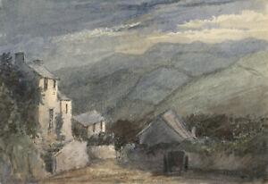 Frank-Rutley-Watermouth-Near-Ilfracombe-at-Night-Devon-1884-watercolour