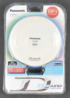 Panasonic Mp3 Portable Cd Player Sl-sx480p-w Brand W Headphones