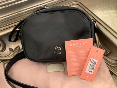Radley London Black Leather Crossbody Bag