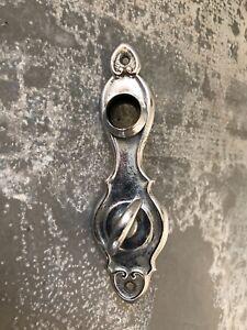 Vintage-chrome-door-knob-back-plate-w-turn-knob