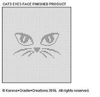 Cats Eyes Face Filet Crochet Pattern