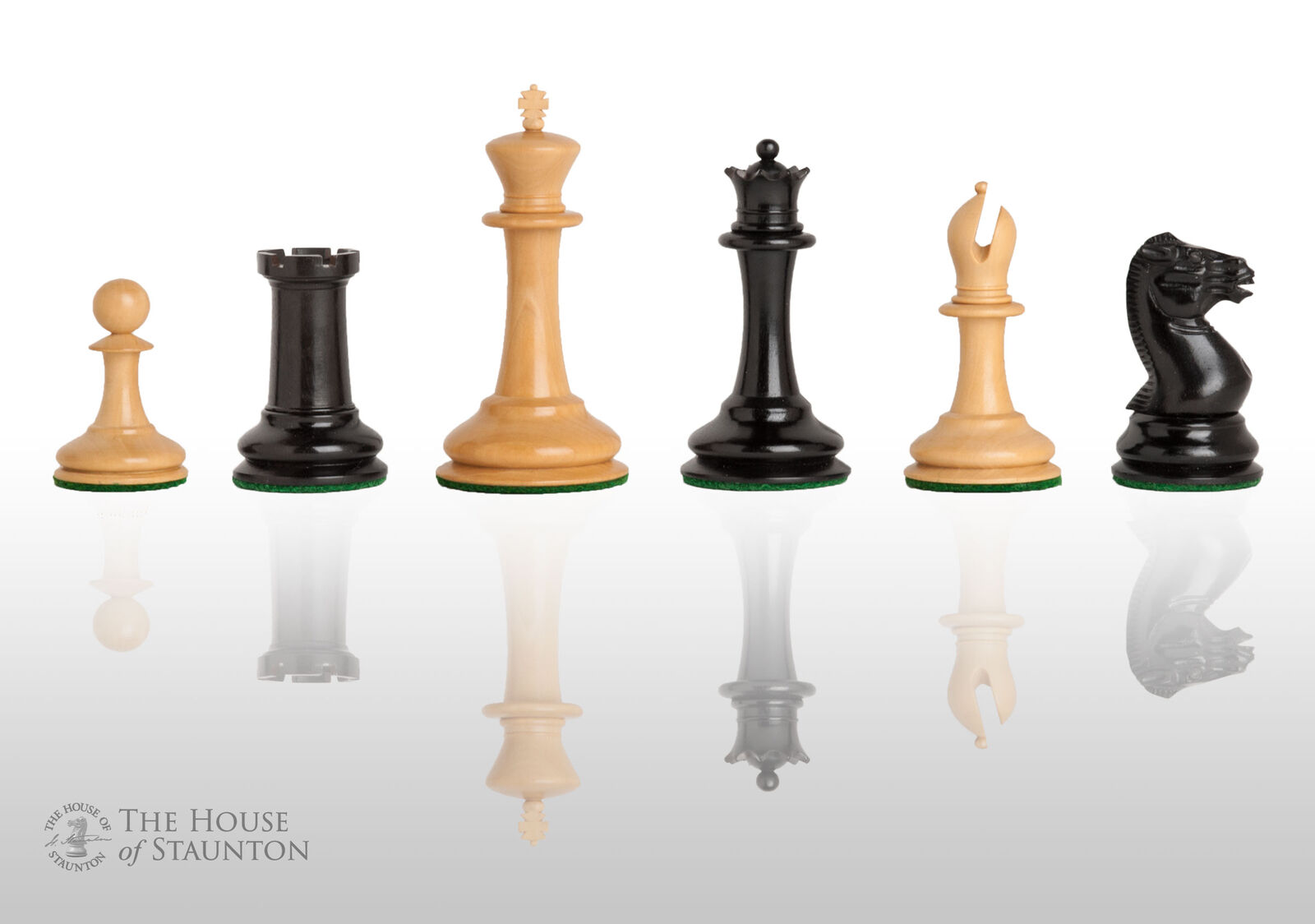 The Harrwitz Luxury Chess Set - Pieces Only - 3.5  King - Genuine Ebony