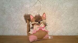 NANKA *NEW* Chat à suspendre oreilles roses en toile de jute H.17cm Cat dPnA0k45-09101624-462963134