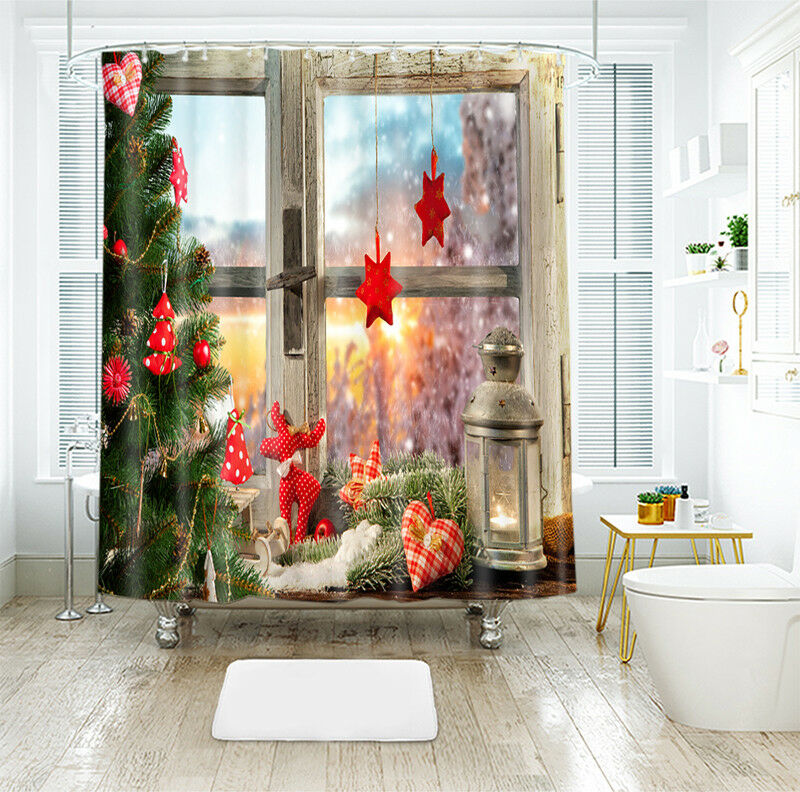 3D Weihnachten Xmas 31 Duschvorhang Wasserdicht Wasserdicht Wasserdicht Faser Bad Daheim Windows DE   Deutschland Online Shop    Discount  3a0c03
