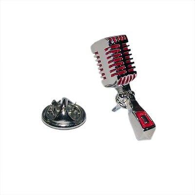 RED Electric Guitar Musician Novelty Pin Badge Hat//Tie Pin Lapel Badge AJTP465
