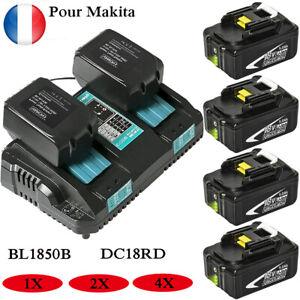 BL1850B Makita Batterie 18V 5.0AH 1840 1860 1890 194204-5 DC18RD Rapide Chargeur