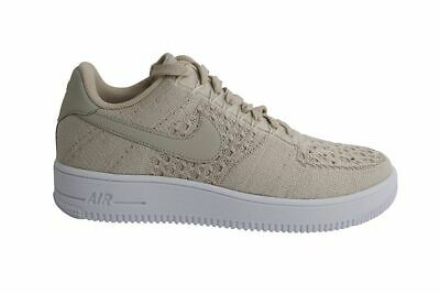 Original Nike Air Force 1 Flyknit Low String Beige Trainers Shoes 817419 200 | eBay