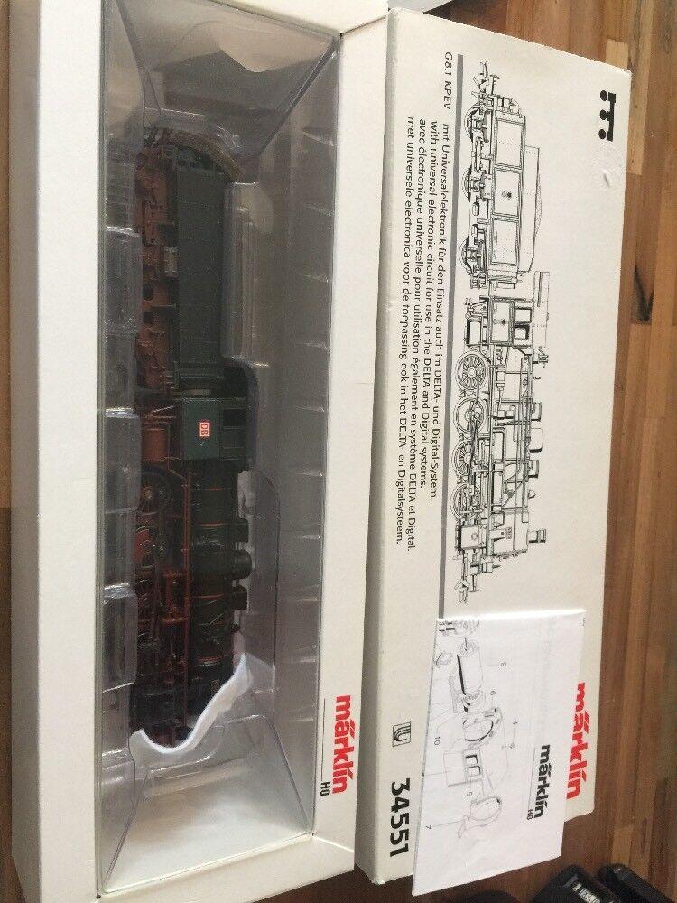 Märklin 34551 Steam Locomotive G8.1 KPEV DELTA DIGITAL MINT BOXED