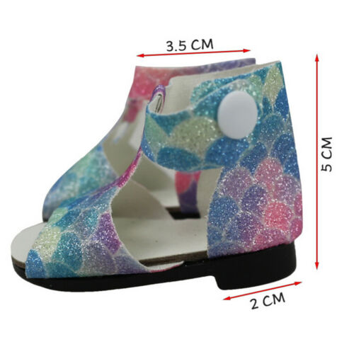MagiDeal Sequins Sandals Shoes for 18inch AG American Doll  Dolls