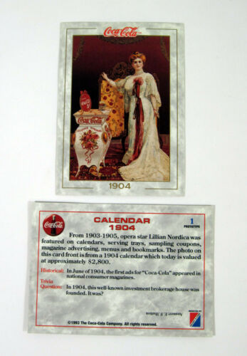 3 Nm//Mt 1993 Collect-A-Card The Coca-Cola Collection Series 1 Promo Card Set