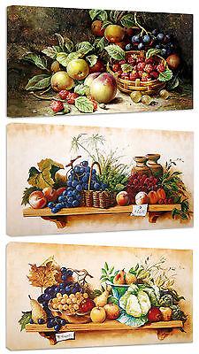 Quadri Moderni Arredamento cm.100x50 Frutta Natura Morta Arredo Arte Stampa Tela