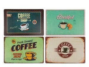 Set de 4 Set de Table Design Rétro / Sets de Table Bistrot Tasse | eBay