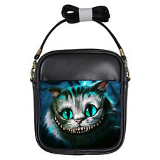 New Cheshire Cat Alice in Wonderland for Girls Sling Bag Leather Free Shipping