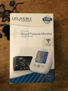 A&D Medical Life Source UA-651W-AC Deluxe Blood Pressure Monitor AccuFit