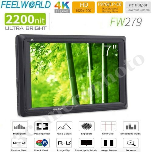 FEELWORLD FW279 7Inch Ultra Bright 2200nit on Camera Field DSLR Monitor1920x1200