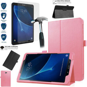HD-Tempered-Glass-Leather-Stand-Case-For-Samsung-Galaxy-Tab-A-10-1-T580-T585