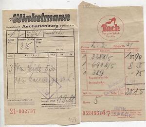 uk availability d6187 1bb2a Details zu (576) 30er Jahre ASCHAFFENBURG Mini Quittungen Tack-Schuhe /  Franz Winkelmann