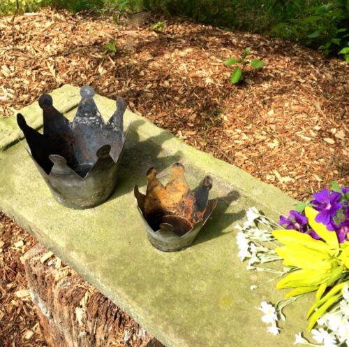 Pflanzübertopf Vintage Blumentöpfe Dekokrone Shabby Chic Kerzenhalter Krone