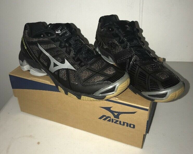 Women's Wave Lightning RX2 Volleyball shoes,Silver Black, Size W10.5 B US