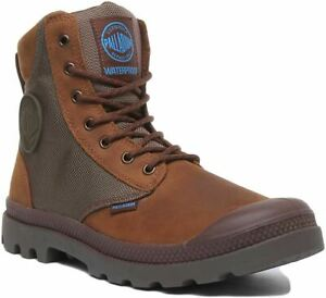 Palladium Spor Cuf Wpn Lace Up Wp Eva Footbed Boot In Brown Size Uk 6 - 12