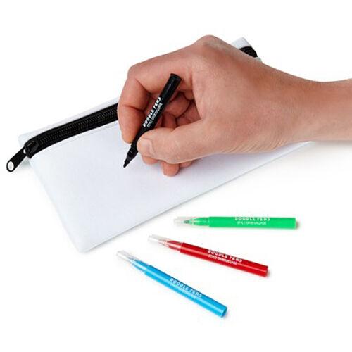 NPW DIY DOODLE CASE customize your pencil case//4 pens to decorate case w// W9668