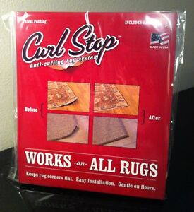 Curl Stop Anti Curling Rug System Pack Of 4 Corners Ebay