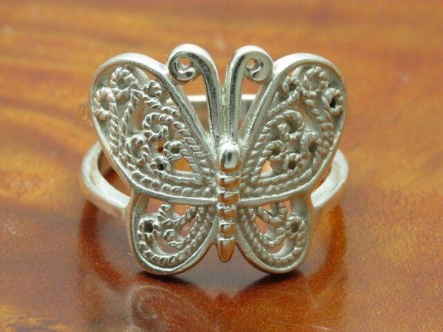 925 Sterling silver Ring   Schmetterling   Echtsilver   5,9g   RG 54,5