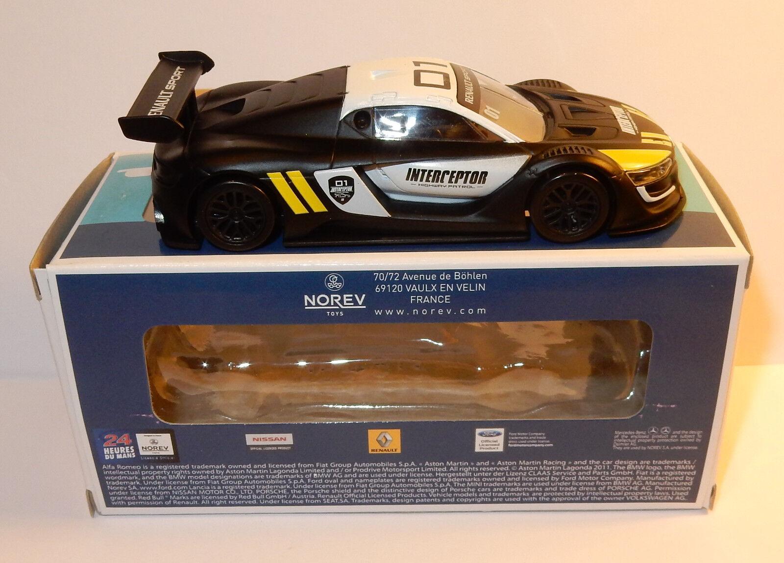 2016 NOREV JET CAR RENAULT SPORT RS01 INTERCEPTOR HIGHWAY PATROL 1//43 IN BOX