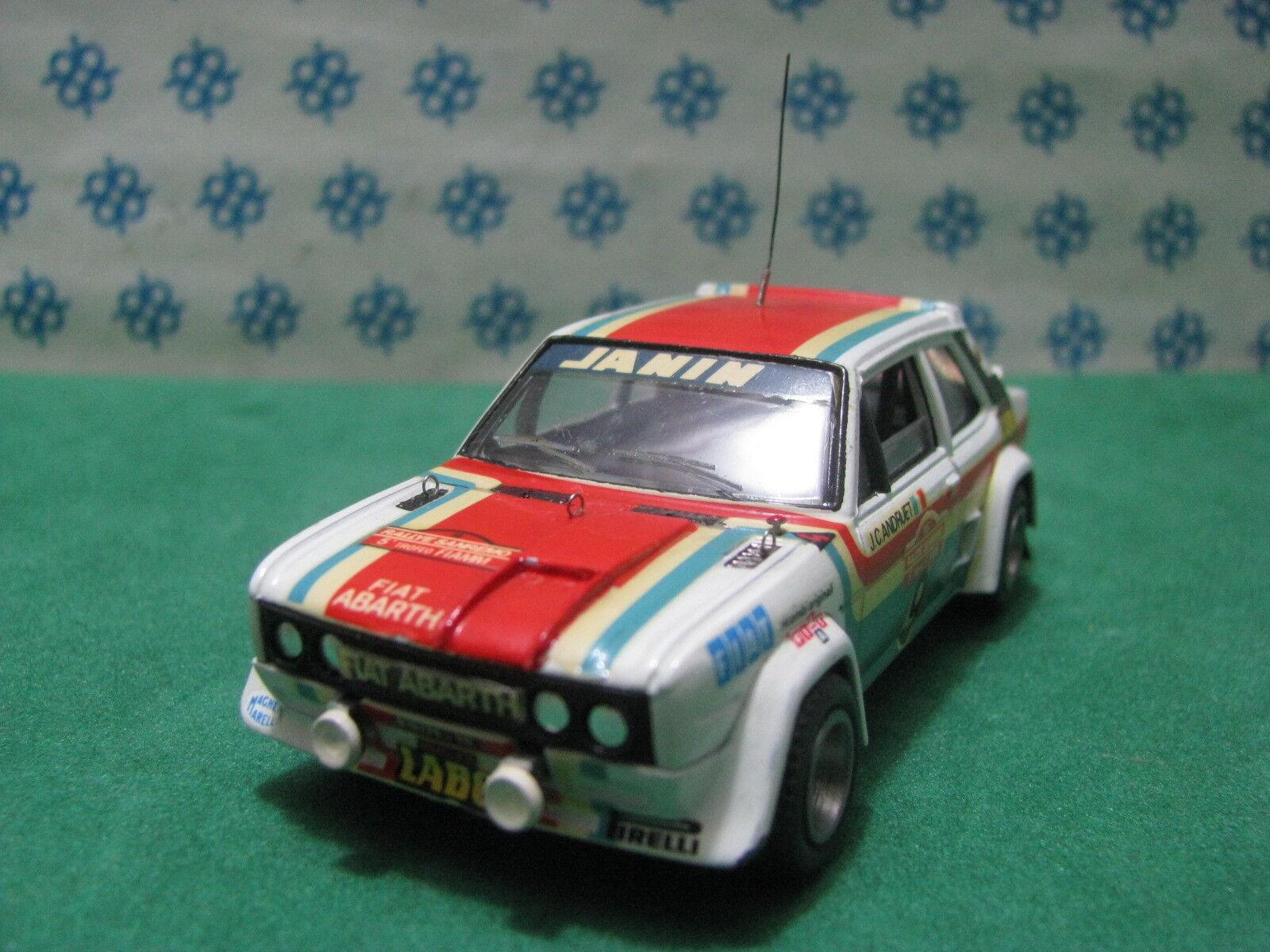 Vintage  -  FIAT 131  Abarth   Rally Sanremo  -  1 43  Elab. base Solido  1977